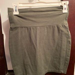 Navy green mini skirt forever 21